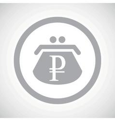 Grey ruble purse sign icon vector image