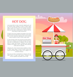 Hot dog poster and text sample vector