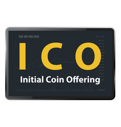 ico initial coin offering vector image