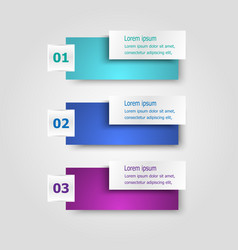 infographic template with rectangle banners vector image