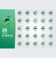 Initial letter design element circle business vector