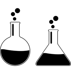 Laboratory flasks vector