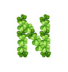 letter n clover ornament vector image
