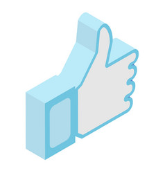 Like thumb up icon isometric style vector