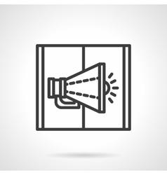 Loudspeaker black line design icon vector image