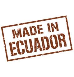 Made in ecuador stamp vector