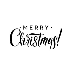 Merry Christmas Calligraphy Template Greeting vector image