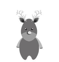 merry christmas reindeer icon vector image
