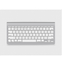Modern computer keyboard object isolated on vector