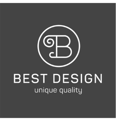 Monogram letter B in the minimalism background vector