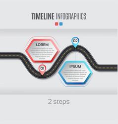 navigation map infographic 2 steps timeline vector image