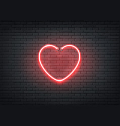 neon heart red signage bar night club vector image