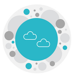 Of climate symbol on haze icon vector