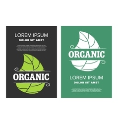 Organic food leaflet vector