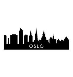 Oslo skyline silhouette black oslo city design vector