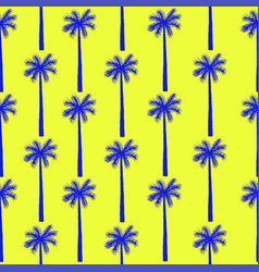 Palm tree seamless pattern botanical vector