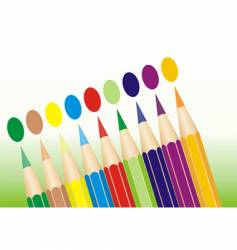 pencils lined up vector image