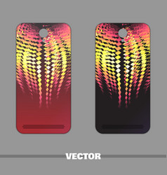 phone cover fiery pattern vector image