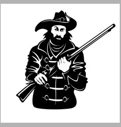pirate with a gun vector image