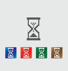 Pixel hourglass icons vector image vector image