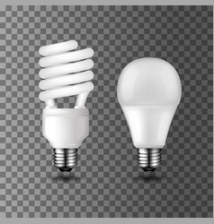 power save and energy saving light bulbs vector image