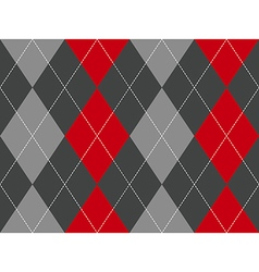 Red gray argyle fabric texture seamless pattern vector