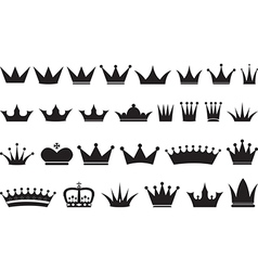 Simple black crowns vector image