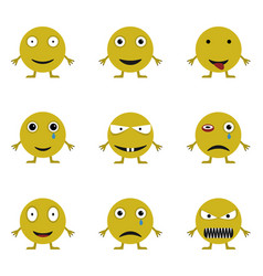 Smile icon set vector