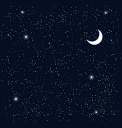 Space Starry Sky with the Moon vector image