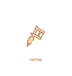 Tattoo concept 2 colored icon simple line element vector
