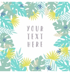 Tropical card template vector image