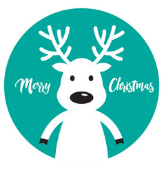 White christmas reindeer vector