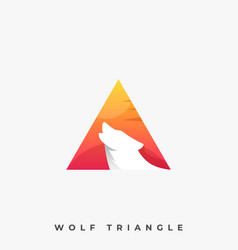 wolf triangle template vector image