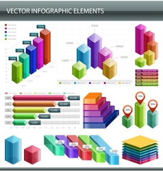 3d Infographics collection vector image vector image