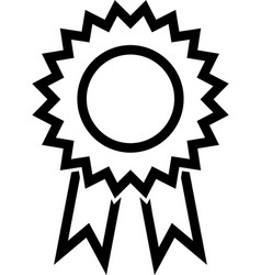 Award ribbon line icon vector