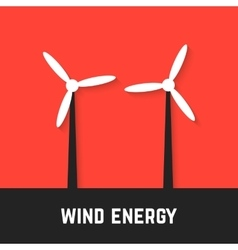 black and white wind motors on red background vector image