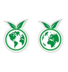 Eco recycling icon vector image vector image