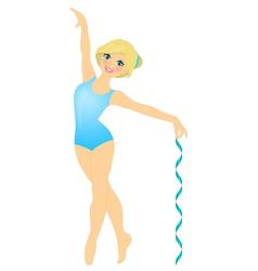 smiling gymnast vector image vector image