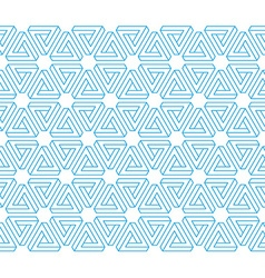 3d impossible triangles seamless pattern vector image