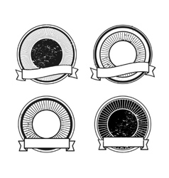 Blank badge icons vector image