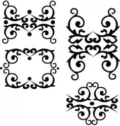 floral filigree elements vector image vector image