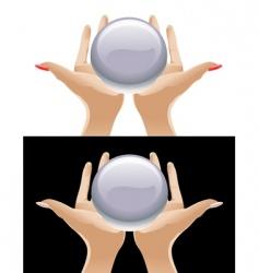 magic crystal vector image vector image