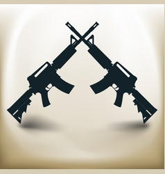 simple assault rifle vector image vector image