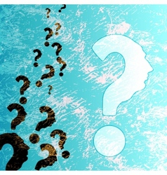 symbol of question mark in colorful background vector image vector image