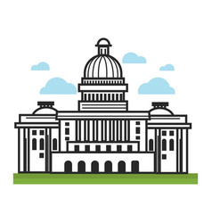 white house usa america travel landmarks and vector image