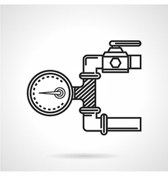 Black line icon for manometer vector image