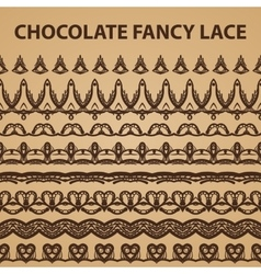 Eight Chocolate Lace Patterns vector image vector image