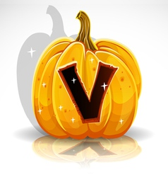 Halloween Pumpkin V vector image vector image