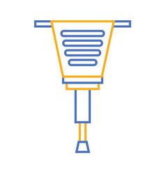 jackhammer tool repair construction equipment vector image