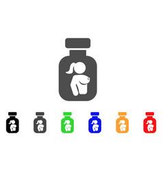 Lady breast vial icon vector